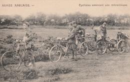 Armee-Anglaise -Cyclistes Amenant Une Mitrailleuse - Belgique
