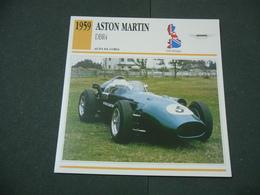 CARTOLINA CARD SCHEDA TECNICA  AUTO  CARS  ASTON MARTIN DBR4 - Altri