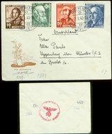 S7368 - Schweiz Pro Juventute Satz Auf Briefumschlag Mit OKW Zensur: Gebraucht Bern - Münster 1943, Bedarfserhaltung. - Suisse