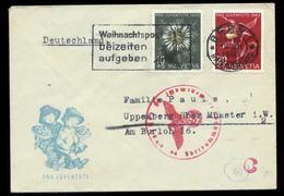 S7367 - Schweiz Pro Juventute Auf Briefumschlag Mit OKW Zensur: Gebraucht Bern - Münster 1943, Bedarfserhaltung. - Suisse