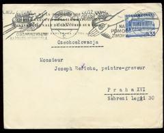 S7350 - Polen Briefumschlag: Gebraucht Warschau - Prag 1937, Bedarfserhaltung. - 1919-1939 République
