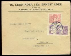 S7349 - Polen Briefumschlag: Gebraucht Krakau - Wien 1926, Bedarfserhaltung. - 1919-1939 République