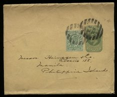 S5858 - England GS Streifband : Gebraucht London - Manila 1924, Bedarfserhaltung. - 1902-1951 (Könige)