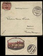 S2708 Schweiz Briefumschlag Mit Vignette: Gebraucht Einsedeln - Baden 1891, Bedarfserhaltung , Ohne Inhalt. - Briefe U. Dokumente