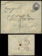 S1512 Britisches Postamt Türkei, GS Umschlag : Gebraucht Constantinopel - Berlin 1901 , Bedarfserhaltung. - Levante Británica