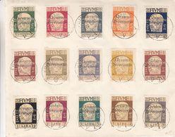 Italie - Fiume - Yvert 132 / 46 Oblitérés Sur Enveloppe ° - Cachet 49-12 Apr 921 -  Valeur 275 Euros - Fiume