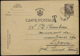 S1354 Rumänien , GS Postkarte , Taxe ,gebraucht - Lipova 1921, Bedarfserhaltung. - Entiers Postaux