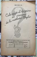 Michelin  1927  Méthode Taylor - Autres Collections