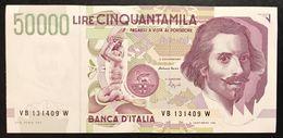 50000 Lire BERNINI II° TIPO SERIE B 1992 Sup/fds  LOTTO.2341 - [ 2] 1946-… : République