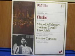 LP036-I GIOIELLI DELLA LIRICA -OTELLO- N. 15 - MARIO DEL MONACO-FLORIANA CAVALLI-TITO GOBBI - NUOVO - Opera