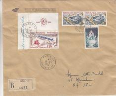 France - Lettre Recom De 1964 ° - Oblit Paris - Expo Philatec 1964 - Fusée - Chavaux - Radio - Télévision - - France