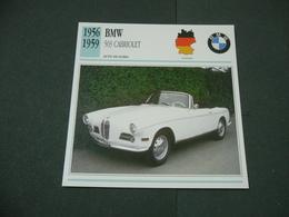CARTOLINA CARD SCHEDA TECNICA  AUTO  CARS  BMW 503 CABRIOLET - Altri