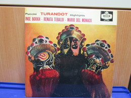 LP052-TURANDOT HIGHLIGHTS - INGE BORKH-RENATA TEBALDI-MARIO DEL MONACO - Opera
