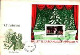 "74820) Nicaragua -FDC HB 136 1977 Natale Chritsmas ""Ballet Schiaccianoci- SERIE COMPLETA - Nicaragua"