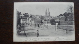 SAINT LO* VUE PRISE DE LA RUE VILLEPIN17/9/1903 - Saint Lo
