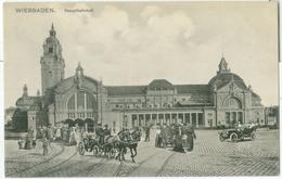 Wiesbaden; Hauptbahnhof - Nicht Gelaufen. (Louis Glaser - Leipzig) - Wiesbaden