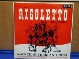 LP056-RIGOLETTO HIGHLIGHTS - MACNEIL-SUTHERLAND-CIONI - Oper & Operette