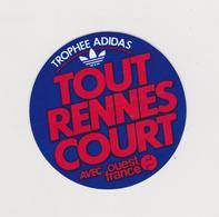 A5 , VP 5 : Autocollants :  Trophée  Adidas , Ouest  France  RENNES - Stickers