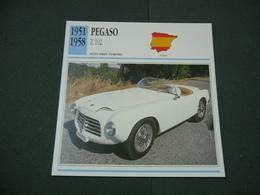CARTOLINA CARD SCHEDA TECNICA  AUTO  CARS  PEGASO Z 102 - Altre Collezioni