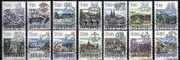 Schweiz Suisse 1982/86: Sternzeichen Zodiaques Zu 680-693 Mit Halbmond-ET-o BERN Demi-lune (Postpreis CHF 28.30 Faciale) - Mythologie