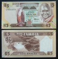 Zambia 5 Kwacha 1980-88 UNC FdS - Zambie