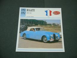 CARTOLINA CARD SCHEDA TECNICA  AUTO  CARS BUGATTI TIPO 101 - Altre Collezioni