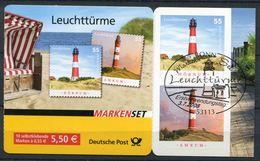 "Germany 2008 Mi.Nr.2682/83,MH75 Self-adhesive,Booklet ""Leuchttürme,Lighthouse ""1 MH ESST Bonn - Leuchttürme"