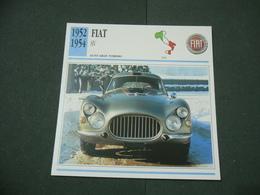 CARTOLINA CARD SCHEDA TECNICA  AUTO  CARS  FIAT 8V - Altre Collezioni