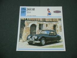 CARTOLINA CARD SCHEDA TECNICA  AUTO  CARS JAGUAR XK140 - Other Collections