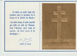 CP - IL EXISTE N PACTE 20 FOIS SECULAIRE ENTRE LA GRANDEUR DE LA FRANCE - AU GÉNÉRAL DE GAULLE - OR 24 CARATS - 1972 - Evènements