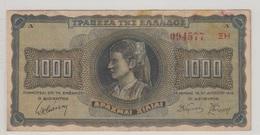 GRECE 1000 Drachmes 1942 P118a VF - Greece