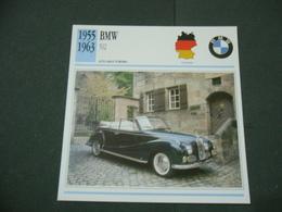 CARTOLINA CARD SCHEDA TECNICA  AUTO  CARS  BMW 502 - Altre Collezioni
