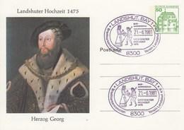PP 104/23  Landshuter Hochzeit 1475 - Herzog Georg, Landshut,Bay 1 - Privé Postkaarten - Gebruikt