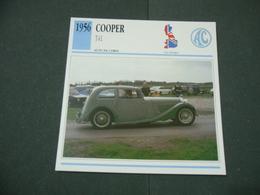 CARTOLINA CARD SCHEDA TECNICA  AUTO  CARS  COOPER T41 - Altre Collezioni