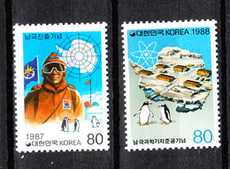 Corea Sud - 1988. Conquista Dell' Antartico. Conquest Of The Antarctic. MNH - Spedizioni Antartiche