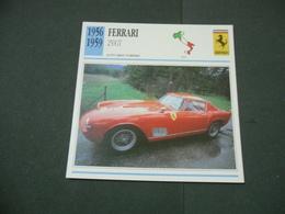 CARTOLINA CARD SCHEDA TECNICA  AUTO  CARS  FERRARI 250 GT - Altre Collezioni