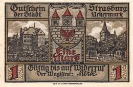 Billet Allemand - 1 Mark - Strasburg In Der Uckermark 1921 - [11] Emissions Locales