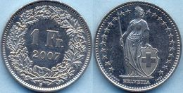 Switzerland Swiss 1 Franc 2007 XF+ - Suiza