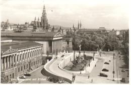 POSTAL      WIEN (VIENA)  -AUSTRIA  - PARLAMENT MIT RATHAUS - Viena