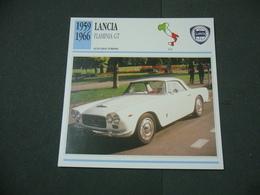 CARTOLINA CARD SCHEDA TECNICA  AUTO  CARS LANCIA FLAMINIA GT - Altre Collezioni