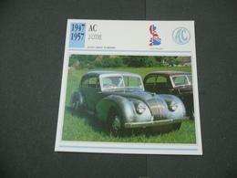 CARTOLINA CARD SCHEDA TECNICA  AUTO  CARS  AC-2 LITRE - Altre Collezioni