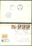 Yugoslavia 1969 Ambulance Bahnpost Railway Mail Post Osijek - Zagreb 21 A Letter Sljivosevci - 1945-1992 Socialist Federal Republic Of Yugoslavia