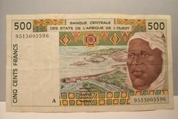 500  -CINQ CENT FRANCS -  BANQUE CENTRALE DES ETATS DE L'AFRIQUE DE L'OUEST - États D'Afrique De L'Ouest
