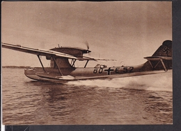"""Postkarte Flugboot Do 18 , Luftwaffen - Illustrierte """" Der Adler """" - Deutschland"""
