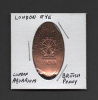 Pressed Penny, Elongated Coin, London Eye, England - Souvenirmunten (elongated Coins)