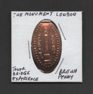 Pressed Penny, Elongated Coin, The Monument, London, England - Pièces écrasées (Elongated Coins)