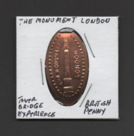 Pressed Penny, Elongated Coin, The Monument, London, England - Souvenirmunten (elongated Coins)