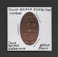 Pressed Penny, Elongated Coin, Tower Bridge Exhibition, England - Souvenirmunten (elongated Coins)