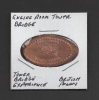Pressed Penny, Elongated Coin, Engine Room Tower Bridge, England - Pièces écrasées (Elongated Coins)