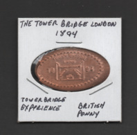 Pressed Penny, Elongated Coin, Tower Bridge 1894, England - Pièces écrasées (Elongated Coins)